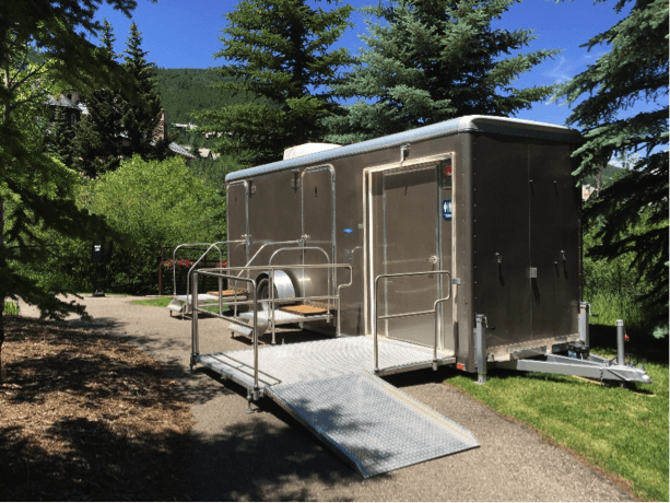 ADA Accessible Restroom Trailer Exterior