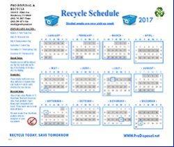 2017 Recycle Holiday Calendar Even