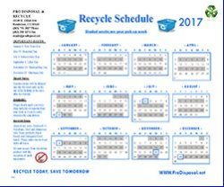 2017 Recycle & Holiday Calendar
