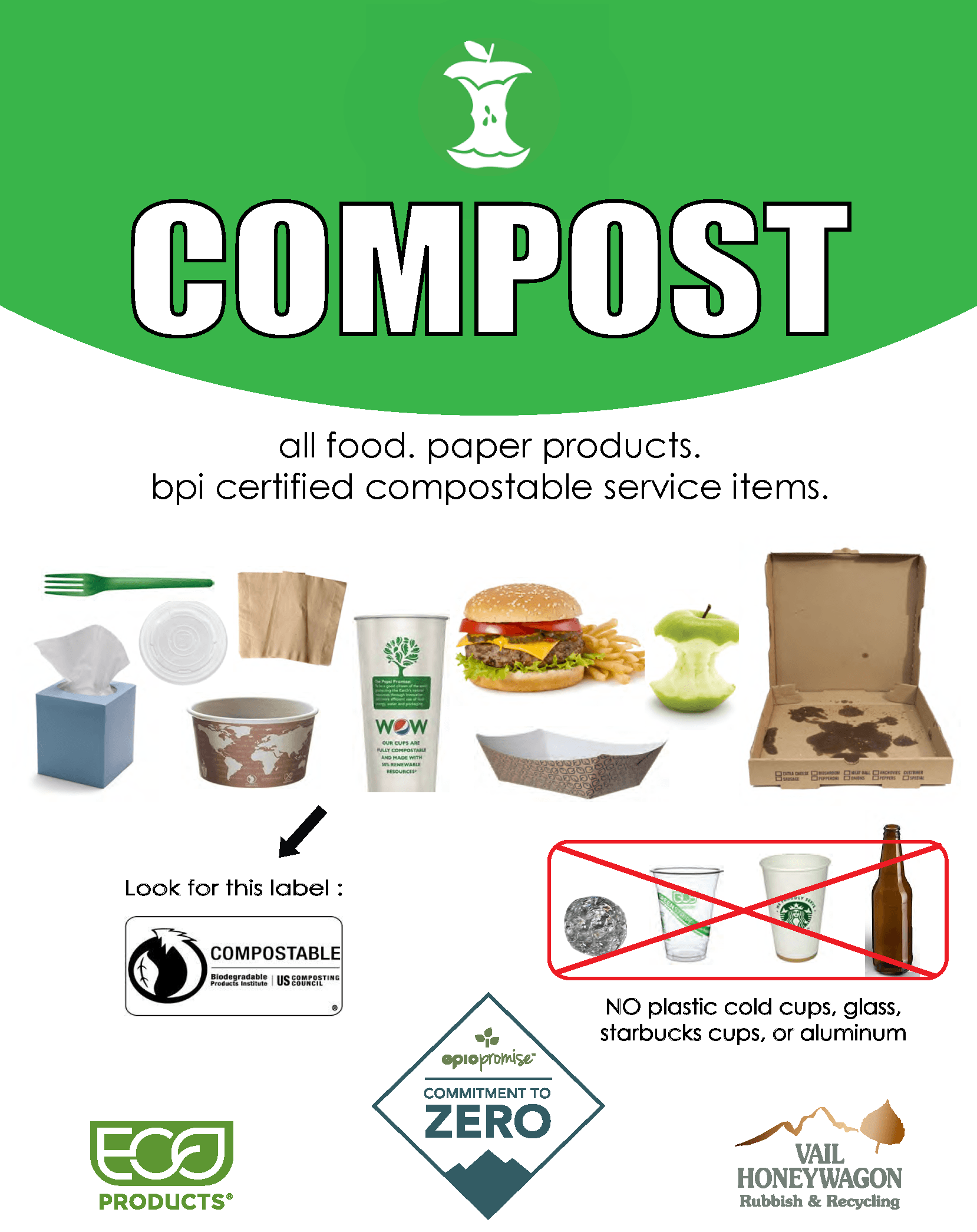Vail Resorts Waste Diversion Signs – Compost thumbnail