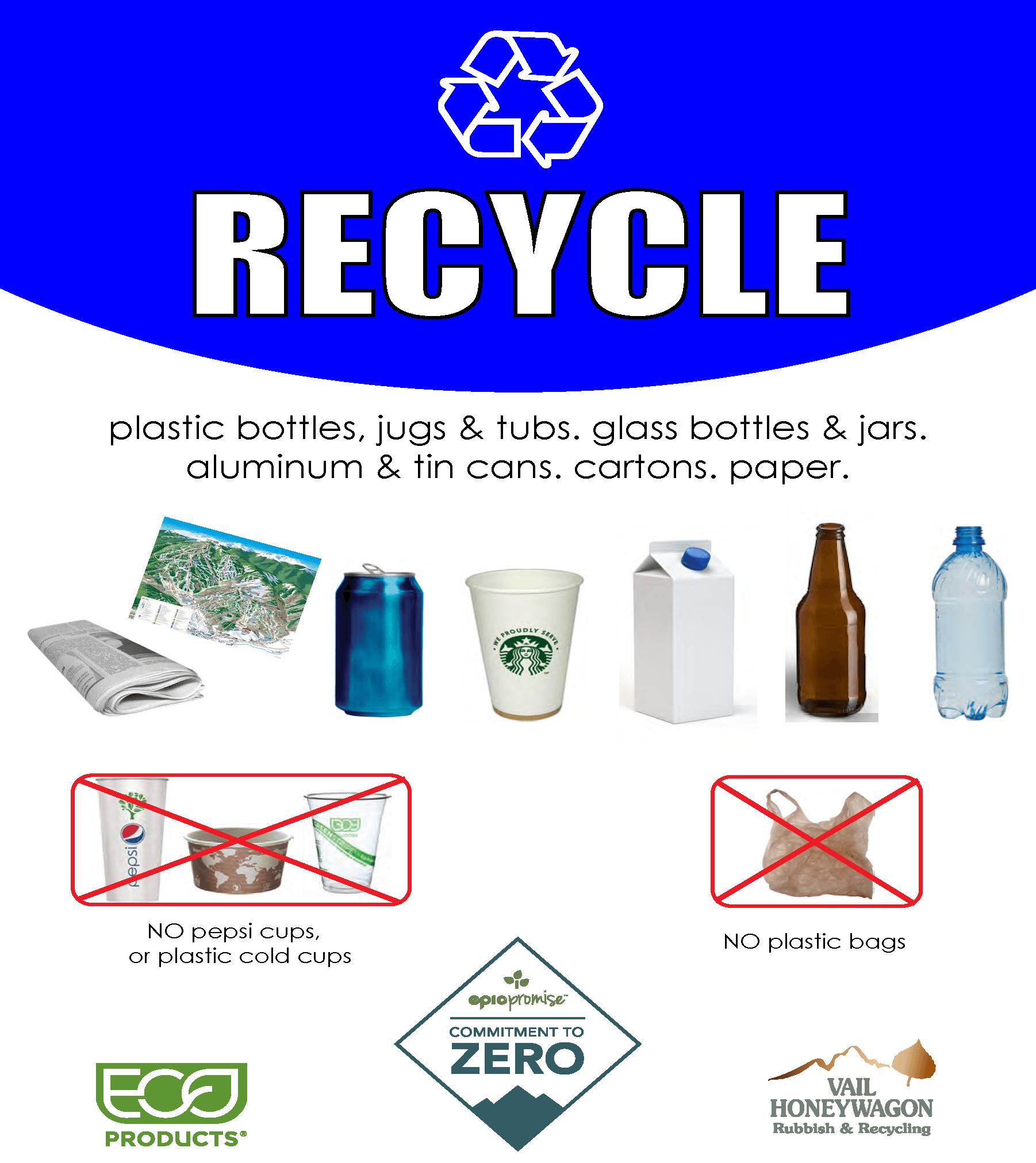 Vail Resorts Waste Diversion Signs – Recycling thumbnail