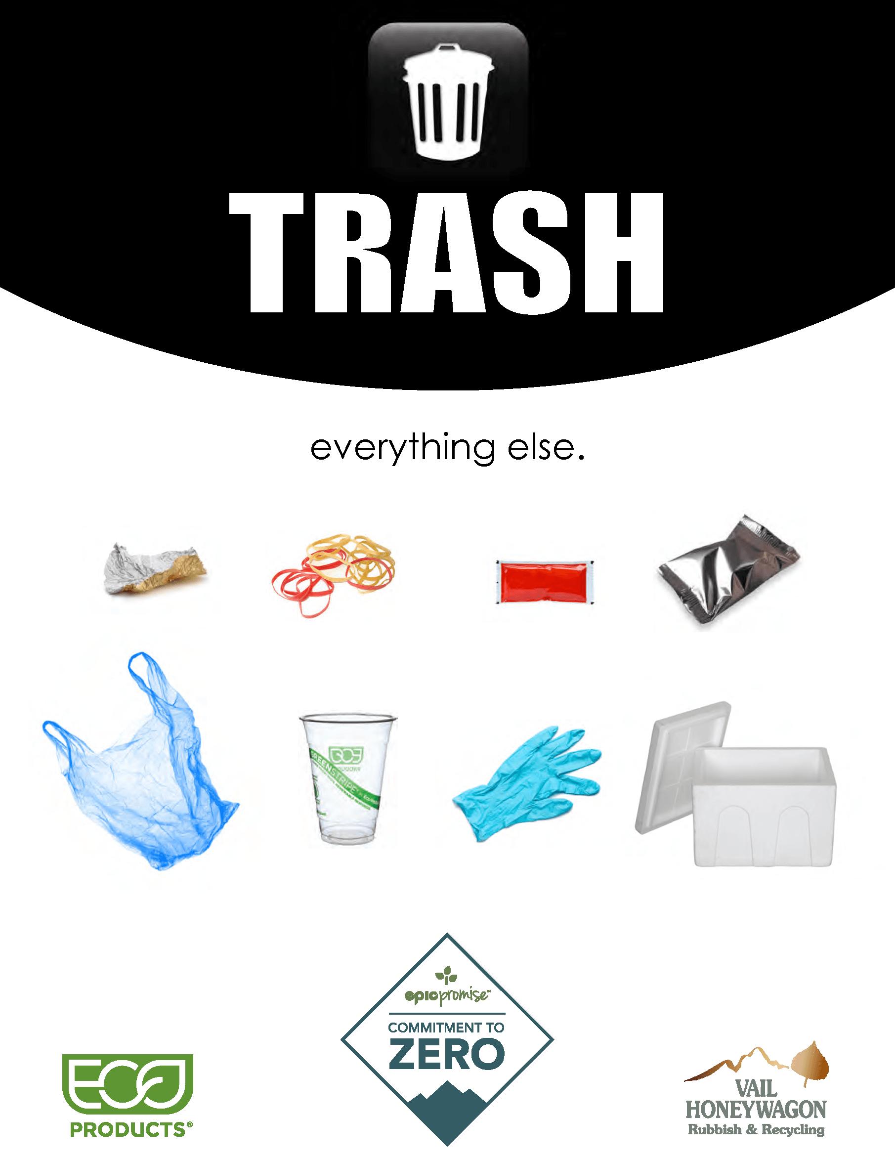 Vail Resorts Waste Diversion Signs – Trash thumbnail
